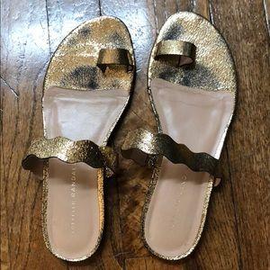 Loeffler Randall gold sandals - like new. Size 7.5